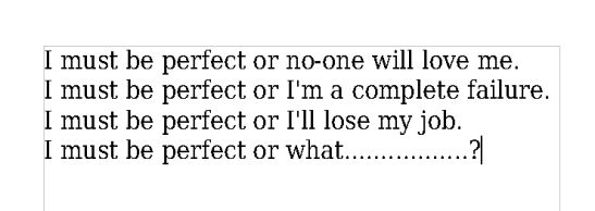 being-perfect