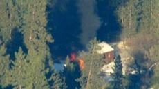 Dorner Cabin Burning