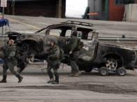 Dorner Burnt-out truck Big Bear
