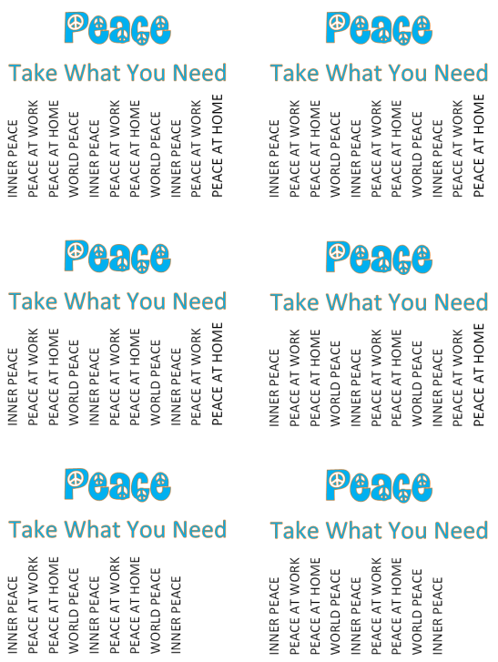 Take What You Need Flyers