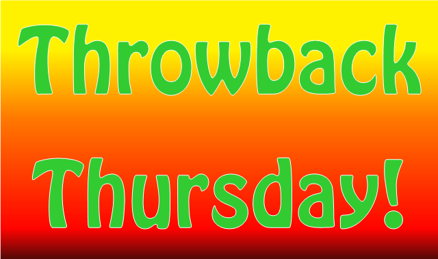 """Well, there ya have it! A """"Throwback Thursday"""" photo throw-down ..."""