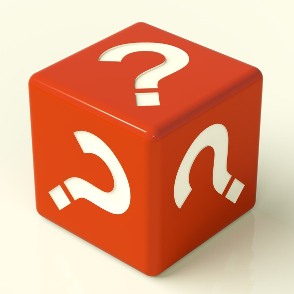 Question Mark Red Dice As Symbol For Information