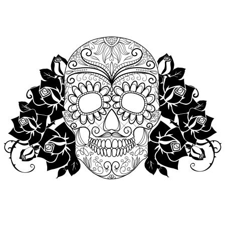 osteoma-cutis-bone-skull-and-roses